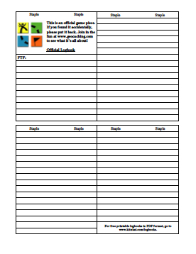 picture relating to Geocache Log Strips Printable titled Unled File