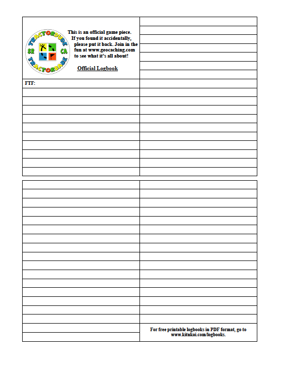 image regarding Geocache Log Strips Printable identify Unled Report